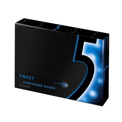 Жевательная резинка Wrigley`s Frost 5 Леденящий шторм-прохладная мята (синий)