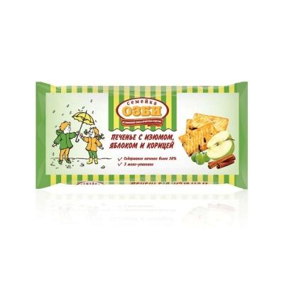 Печенье затяжное 'Семейка ОЗБИ' с изюмом, яблоком и корицей