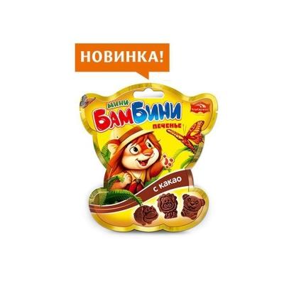 Печенье Черемушки Мини-Бамбини сахарное с какао