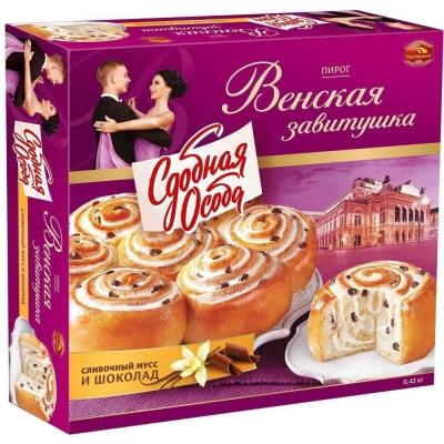 Пирог Черемушки Венская завитушка вкус сливочный мусс и шоколад